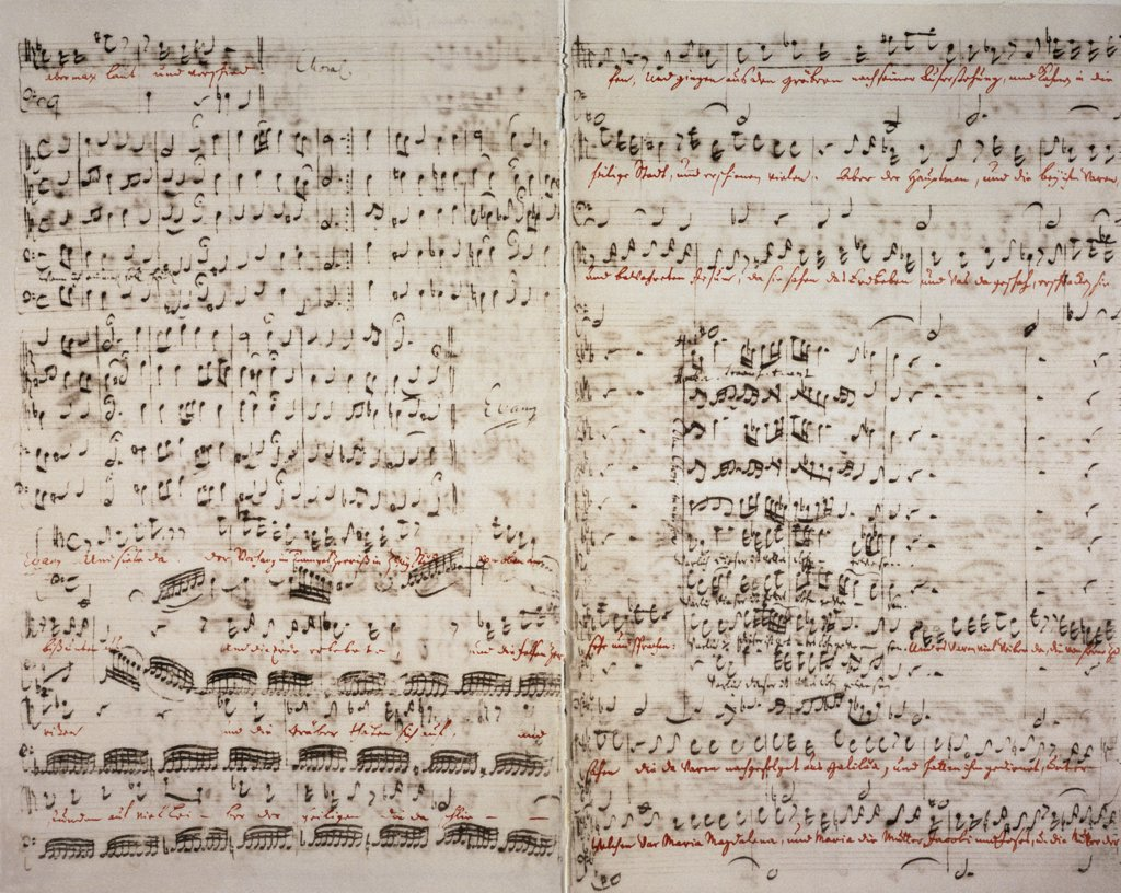 Stock Photo: 463-3110 Matthauspassion. Original Score