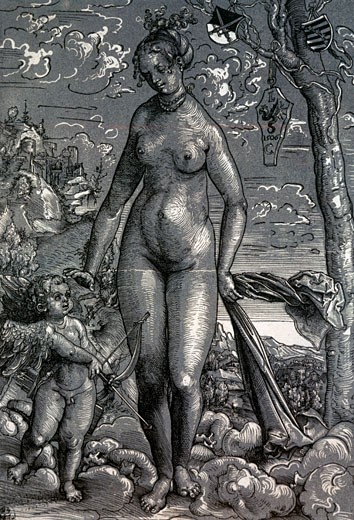 Stock Photo: 463-3227 Venus and Love,  by Lucas Cranach the Elder,  (1472-1553) Germany,  Dresden,  Staatliche Kunstsammlungen Dresden