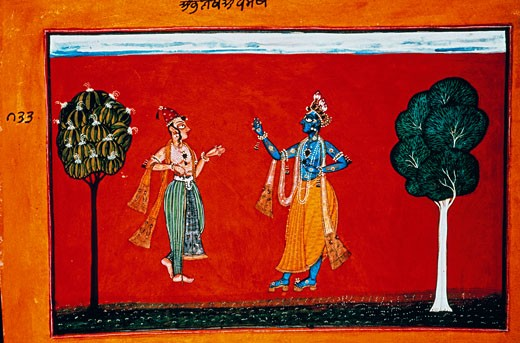 Krishna Tells a Friend About Being in Love 