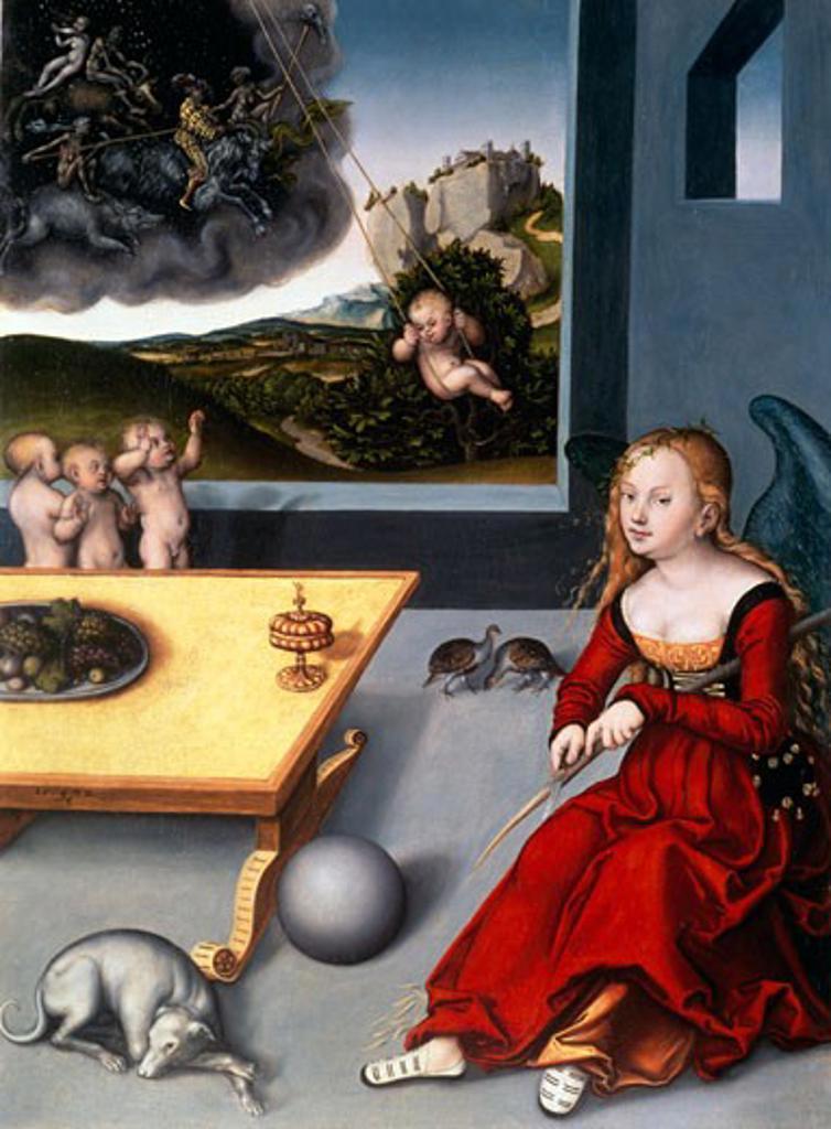 Stock Photo: 463-3332 Melancholy,  by Lucas Cranach the Elder,  (1472-1553)