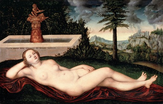Stock Photo: 463-3340 Reclining Spring Nymph