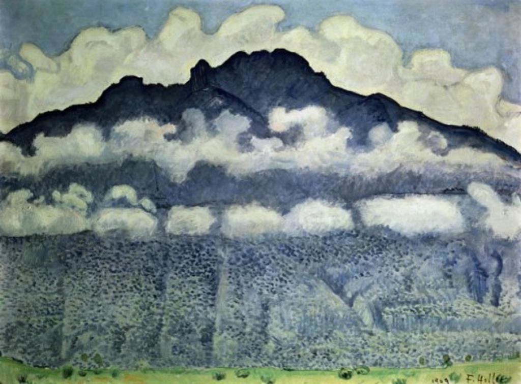 Stock Photo: 463-3375 Schynige Platte, Landscape in Bernese Alps, Switzerland 1909 Ferdinand Hodler  (1853-1918/Swiss) Oil on canvas Musee d'Orsay, Paris