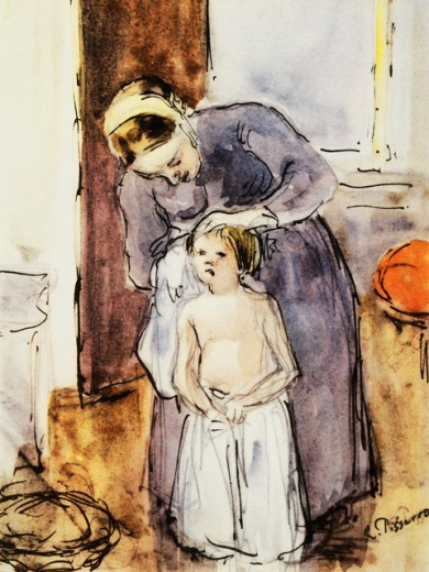 Stock Photo: 463-3499 La Toilette 