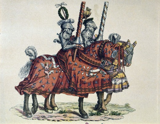 Stock Photo: 463-3522 Knights Riding to a Tournament