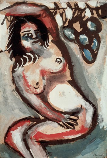 Nude With Raised Arm 1911 Marc Chagall (1887-1985 Russian) : Stock Photo