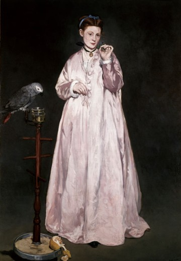 Stock Photo: 463-3710 Woman with Parrot