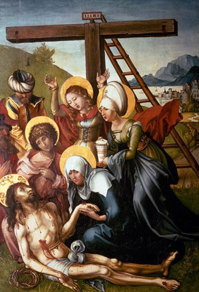 The Lamentation Albrecht Durer (1471-1528 German) Gemaldegalerie, Dresden  : Stock Photo