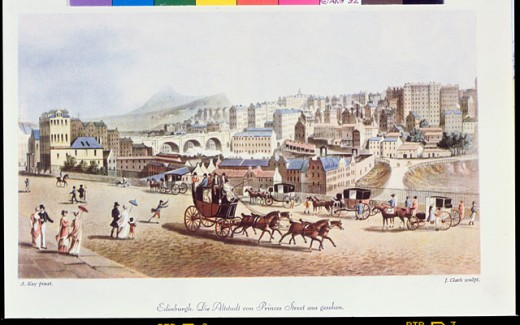 Stock Photo: 463-4057 Old Town As Seen From Princess Street