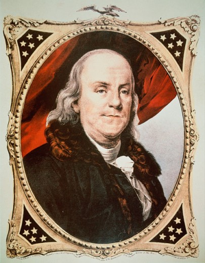 Stock Photo: 463-4082 Portrait of Benjamin Franklin 