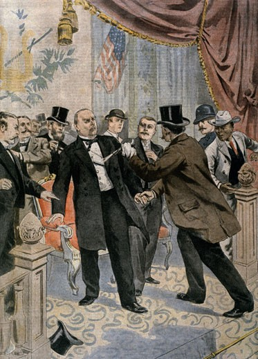 Stock Photo: 463-4093 Assassination of William MacKinley,  (Circa 1901),  American History