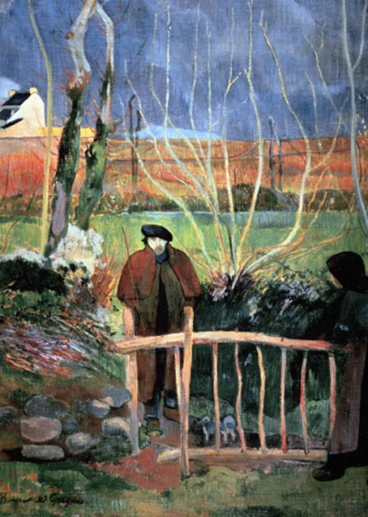 Bonjour,  Monsieur Gauguin 1889 Paul Gauguin (1848-1903 French) Oil on canvas Armand Hammer Foundation, Los Angeles, CA, USA : Stock Photo