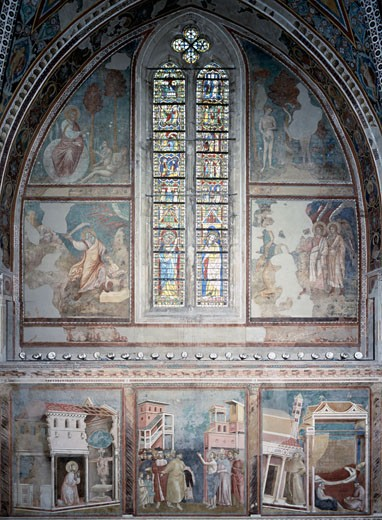 Stock Photo: 463-4168 Life Of St. Francis-Upper Church-3. Bay 1253 Giotto (ca.1266-1337 Italian) Church of San Francesco, Assisi, Italy