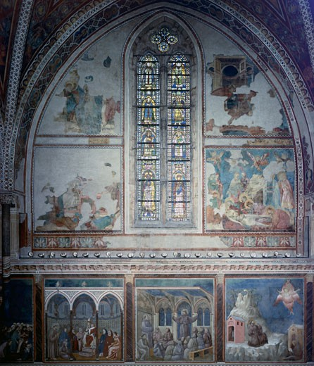 Stock Photo: 463-4169 Life Of St. Francis-Upper Church-Southern Front Bay 1253 Giotto (ca.1266-1337 Italian) Church of San Francesco, Assisi, Italy