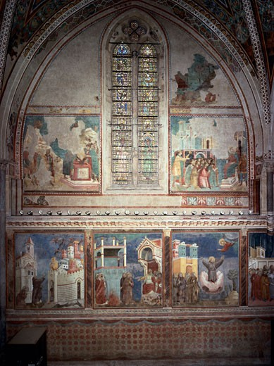 Life Of St. Francis-Upper Church-Northern Front 1253 Giotto (ca.1266-1337 Italian) Church of San Francesco, Assisi, Italy : Stock Photo