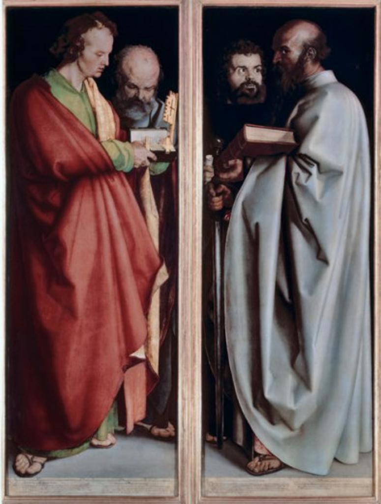 Stock Photo: 463-4217 The Four Apostles Albrecht Durer 1471-1528  German Alte Pinakothek Munich Germany