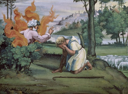 Stock Photo: 463-4482 Moses and the Burning Bush