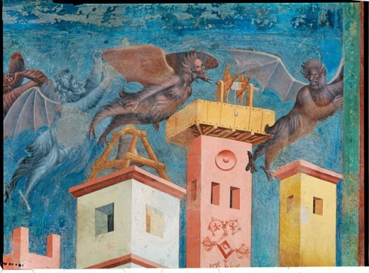 St Francis Frees the City of Arezzo from a Demon 