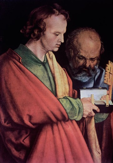 Stock Photo: 463-4622 The Four Apostles - Detail of Peter and John