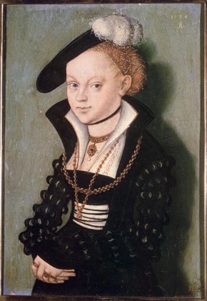 Stock Photo: 463-4661 Christiana Eulenau Lucas I Cranach (1472-1553 German) Geraldegalerie, Dresden