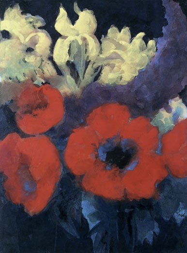 Stock Photo: 463-4762 Summer Flower Emil Nolde (1867-1956 German) Watercolor Museum der Bildenden Kunste, Leipzig, Germany