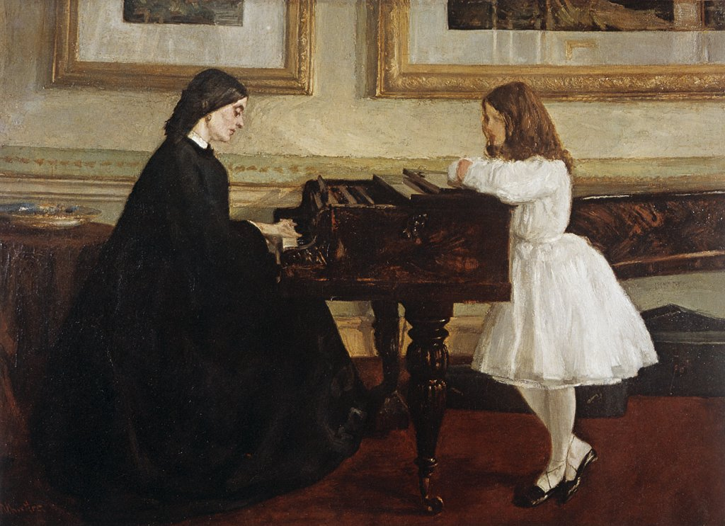 Stock Photo: 463-4921 Sitting at the Piano