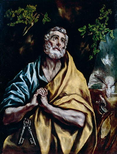 Stock Photo: 463-5093 Saint Peter Weeping