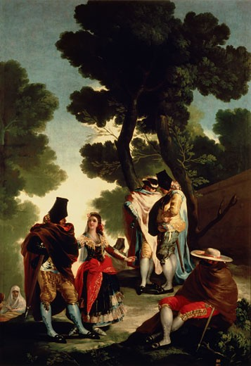 The Promenade Of Andalucia 1777 Francisco Goya y Lucientes (1746-1828 Spanish) Oil On Canvas Museo del Prado, Madrid, Spain : Stock Photo