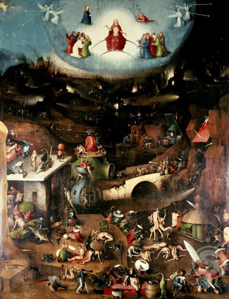 Stock Photo: 463-5120 The Last Judgement (Center Panel) 1504-1508 Hieronymus Bosch (ca.1450-1516 Netherlandish) Oil on wood panel Akademie der Bildenden Kunst, Vienna, Austria