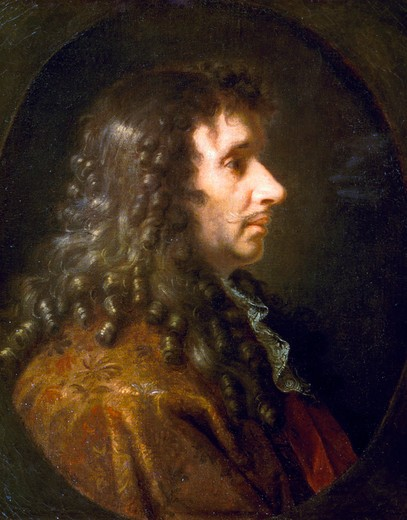 Stock Photo: 463-5138 Moliere,  by Charles Le Brun,  1619-1690 French,  Russia,  Moscow,  Pushkin Museum of Fine Arts,  1660