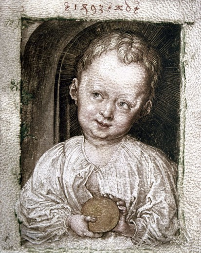 Stock Photo: 463-5156 Infant Christ with the World Globe