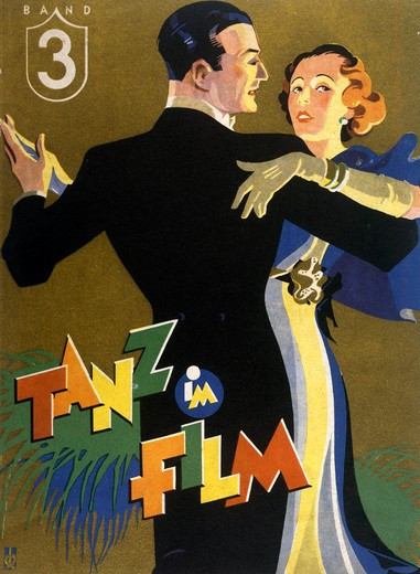 Stock Photo: 463-5159 Dance in Film,  artist unknown,  poster,