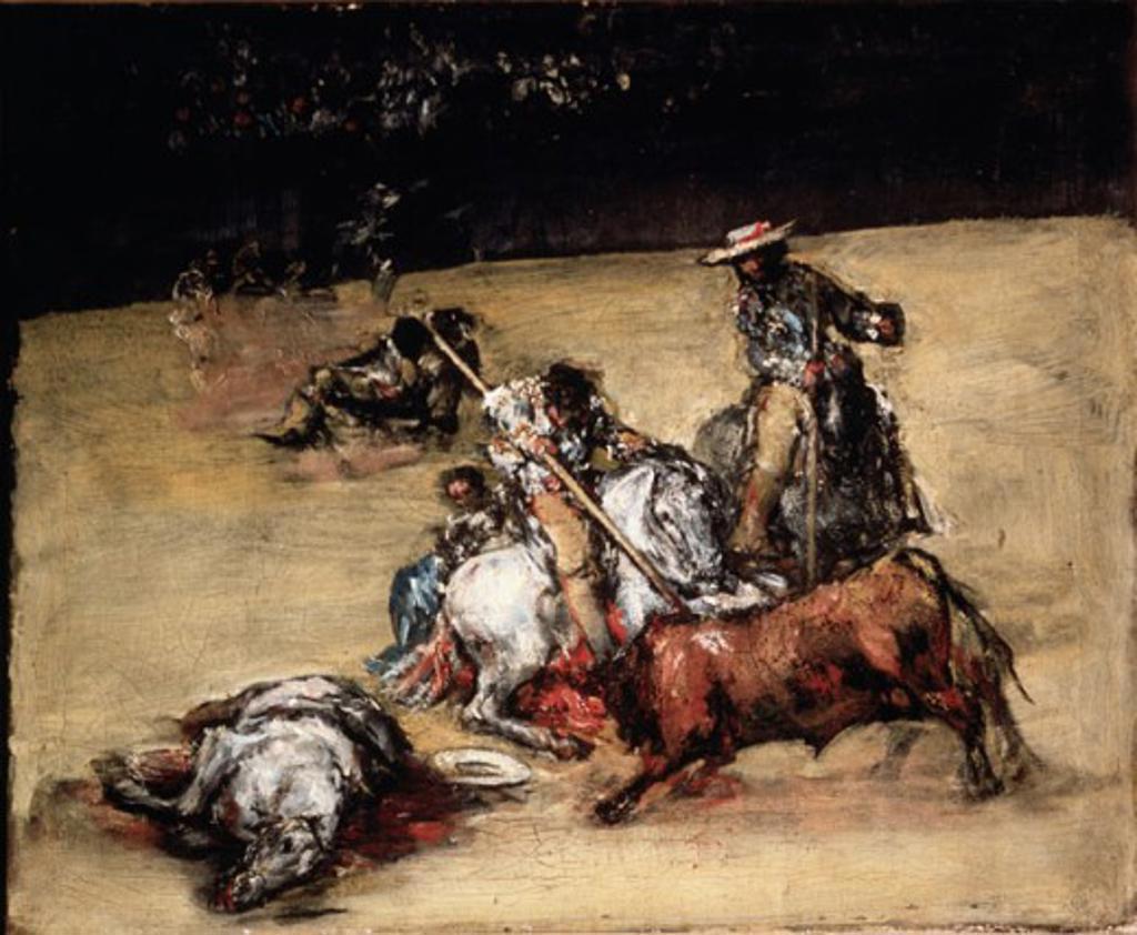 Stock Photo: 463-5330 Corrida de Toros Francisco Goya y Lucientes (1746-1828 Spanish) Musee del Prado, Madrid