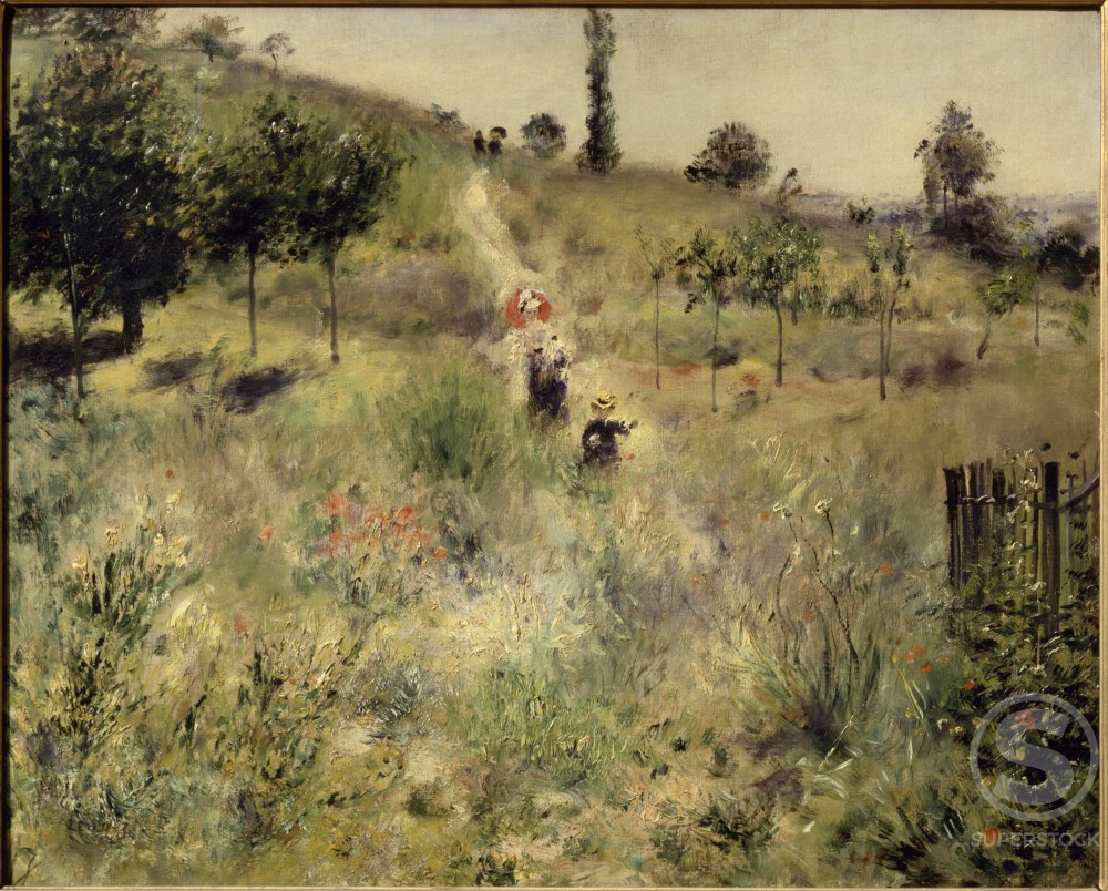 Stock Photo: 463-5334 Road Rising into Deep Grass
