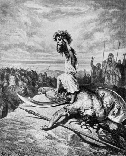 Stock Photo: 463-5464 David with the Head of Goliath