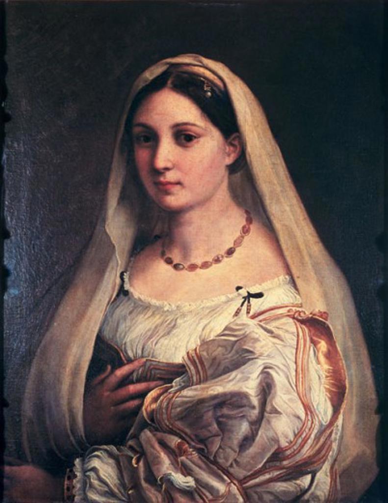 Stock Photo: 463-5488 La Velata Raphael (1483-1520 Italian) Palazzo Pitti-Palatina Gallery, Florence, Italy