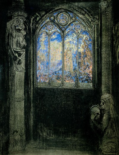Stock Photo: 463-5624 The Stained Glass Window