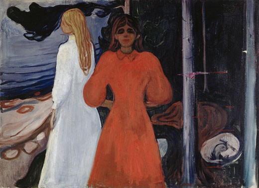 Red And Woman 1894 Edvard Munch (1863-1944 Norwegian) Oil On Canvas Munch Museum, Oslo, Norway : Stock Photo