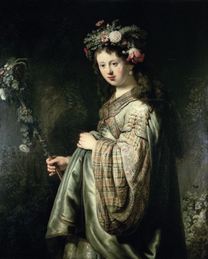 Stock Photo: 463-5671 Saskia as Flora