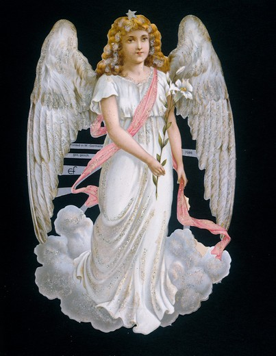 Stock Photo: 463-5695 Angel (Gabriel),  Nostalgia Cards,  1900,  20th century