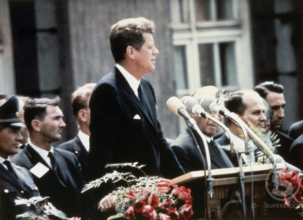 John F. Kennedy, Berlin, Germany, June 23, 1963 : Stock Photo