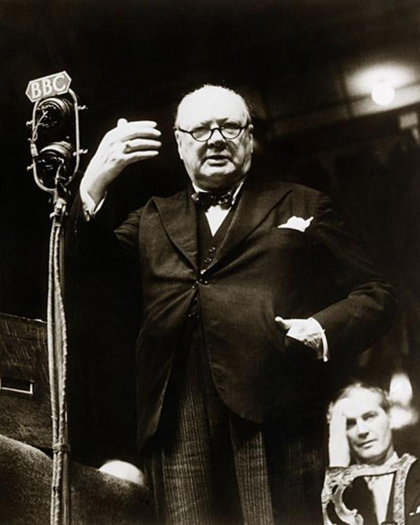 Stock Photo: 463-5767 Winston Churchill British Prime Minister (1874-1965)