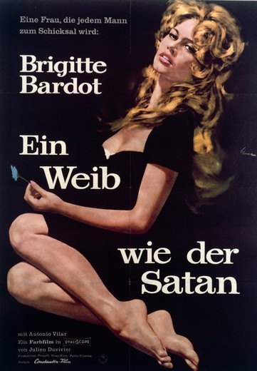 Stock Photo: 463-6440 Brigitte Bardot - A Women Like Satan (La Femme At Le Patin) by Ernst Litter,  poster,  1958,  20th century