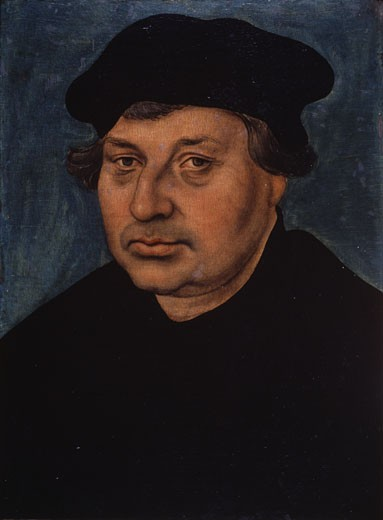 Stock Photo: 463-6539 Portrait Of The Reformator Johannes Bugenhagen (1485-1558) 1537 Lucas Cranach the Elder (1472-1553 German) Oil On Wood Lutherhalle, Wittenberg, Germany