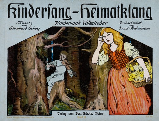 Stock Photo: 463-6640 Cover of Kindersang-Heimatklang (Children's Folk Songs, Music by Scholz, Illust. by Liebermann)