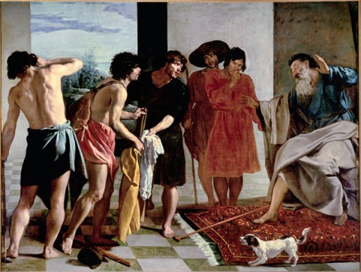 Stock Photo: 463-6676 Jacob Receives the Bloody Coat of Joseph
