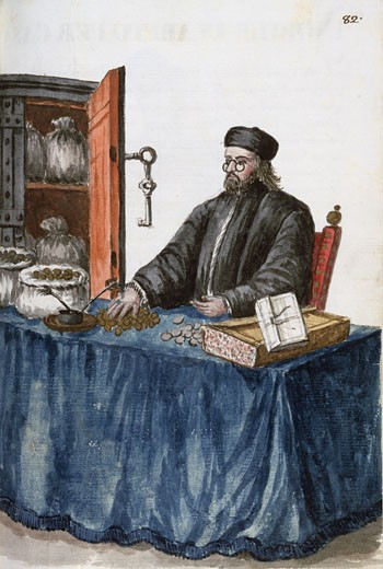Stock Photo: 463-6744 Banker From Venice In The 16th Century Jan Grevenbroeck II (1731-1807 Dutch) Watercolor Museo Civico Correr, Venice, Italy