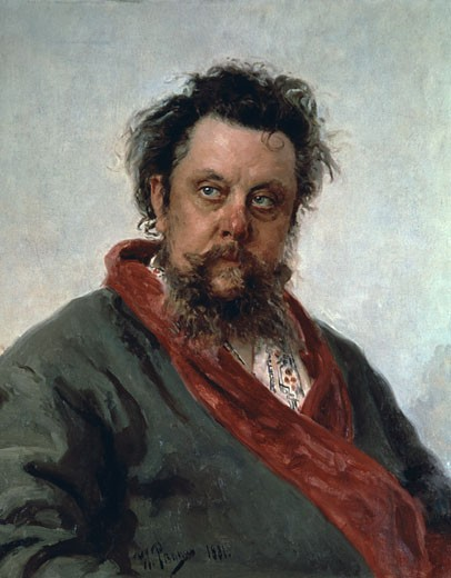 Stock Photo: 463-6788 Portrait Of Modest Petrovich Mussorgsky Russian Composer S.D.1881 Il'ja Efimovic Repin (1844-1930 Russian) Oil On Canvas Tretyakov Gallery, Moscow, Russia