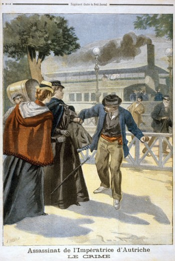 Stock Photo: 463-6794 Empress Elisabeth is Murdered by the Italian Anarchist Luigi Lucheni