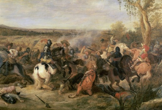 Stock Photo: 463-6872 Equestrian Battle