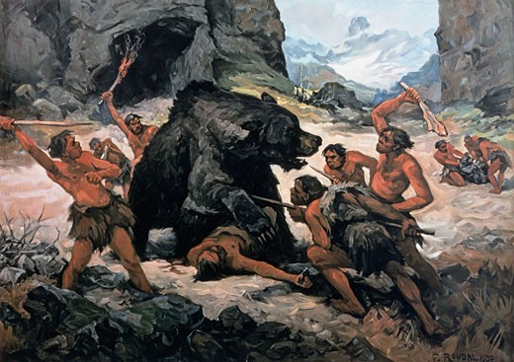 Walking With Cavemen: John Lynch, Louise Barrett Pictures of cavemen hunting